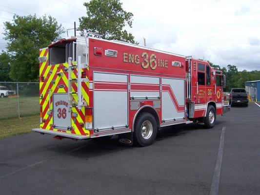 2009 Pierce Quantum - PUC rescue pumper - fire engine - passenger rear