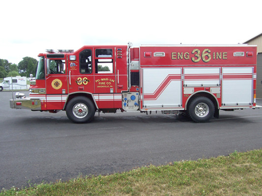 2009 Pierce Quantum - PUC rescue pumper - fire engine - driver side