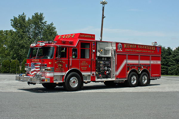 2010 Pierce Arrow XT pumper tanker - fire truck - driver front