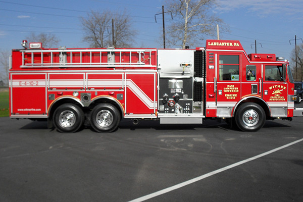 2010 Pierce Arrow XT pumper tanker - fire truck - passenger side