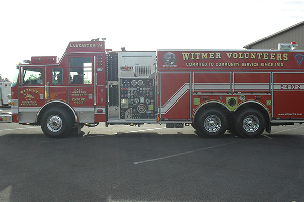 2010 Pierce Arrow XT pumper tanker - fire truck - driver side