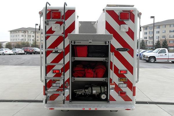 2009 Pierce Saber - heavy duty non-walk-in rescue - rear