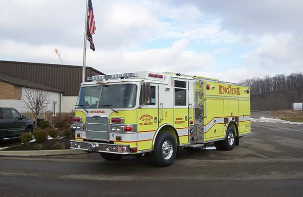 2009 Pierce Arrow XT PUC rescue pumper - fire engine - driver side front