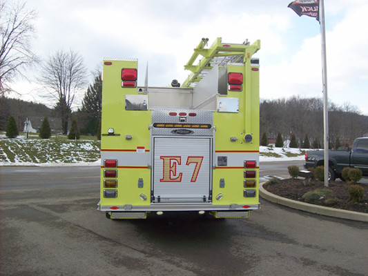 2009 Pierce Arrow XT PUC rescue pumper - fire engine - rear hosebed