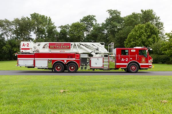 2016 Pierce Velocity mid-mount - 95' aerial platform fire truck - passenger side