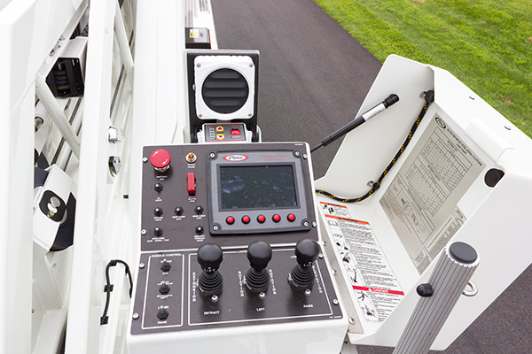 2016 Pierce Velocity mid-mount - 95' aerial platform fire truck - aerial control panel