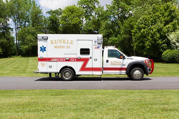 new 2016 Braun ambulance - type I ambulance - passenger side