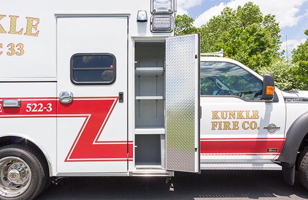new 2016 Braun ambulance - type I ambulance - stocking cabinets