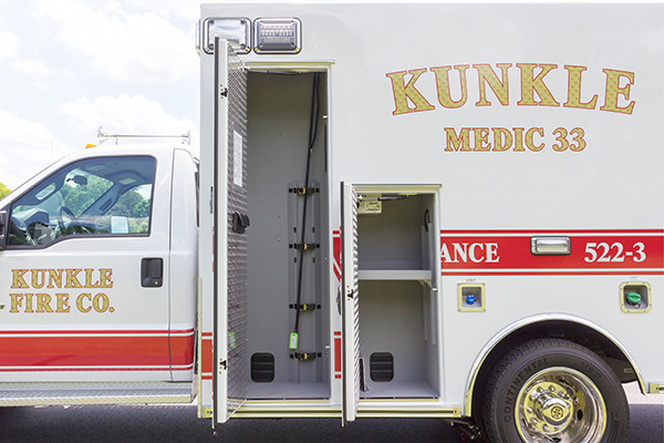 new 2016 Braun ambulance - type I ambulance - oxygen storage compartment
