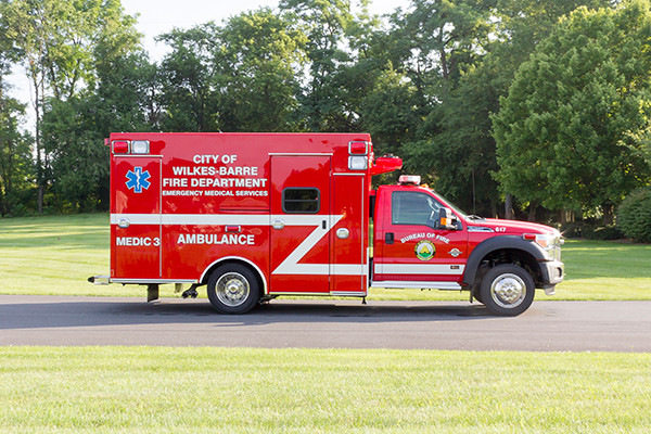 new 2016 Braun Liberty Type I ambulance - passenger side