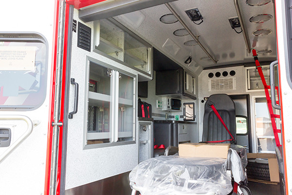 new 2016 Braun Liberty Type I ambulance - module interior driver side