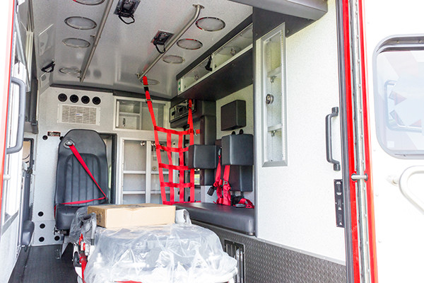 new 2016 Braun Liberty Type I ambulance - module interior passenger side