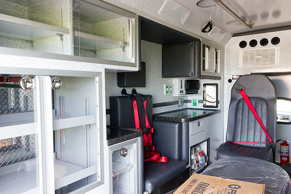 new 2016 Braun Liberty Type I ambulance - module workstation