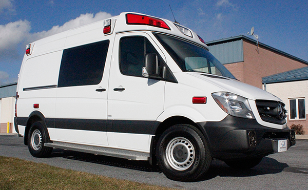 new 2016 Demers EXE Type II ambulance - Mercedes Sprinter ambulance - passenger front