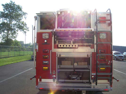 Pierce Velocity non-walk-in rescue - new rescue fire truck - rear