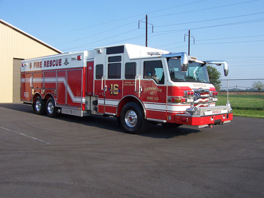 Pierce Velocity non-walk-in rescue - new rescue fire truck - passenger front