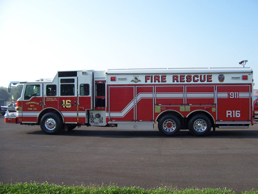 Pierce Velocity non walk-in rescue - new rescue fire truck - driver side