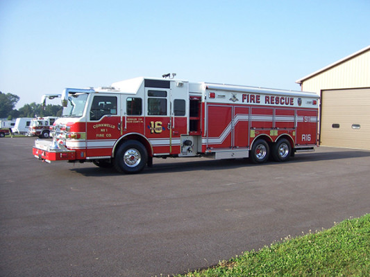 Pierce Velocity non-walk-in rescue - new rescue fire truck - driver front