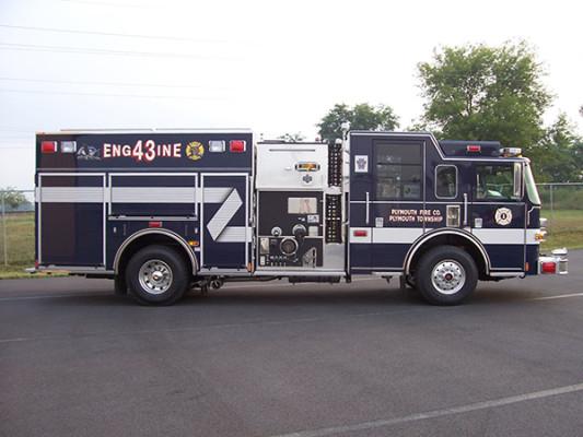 Pierce Arrow XT - new pumper fire engine - passenger side