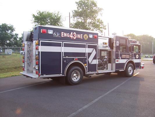 Pierce Arrow XT - new pumper fire engine - passenger rear