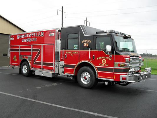 2009 Pierce Velocity PUC rescue pumper - rescue fire engine - passenger front