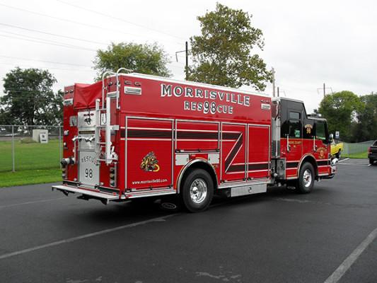 2009 Pierce Velocity PUC rescue pumper - rescue fire engine - passenger rear
