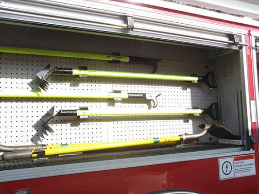 2009 Pierce Arrow XT - new aerial ladder truck - custom tool board