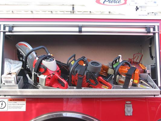 2009 Pierce Arrow XT - new aerial ladder truck - tilt out tool tray
