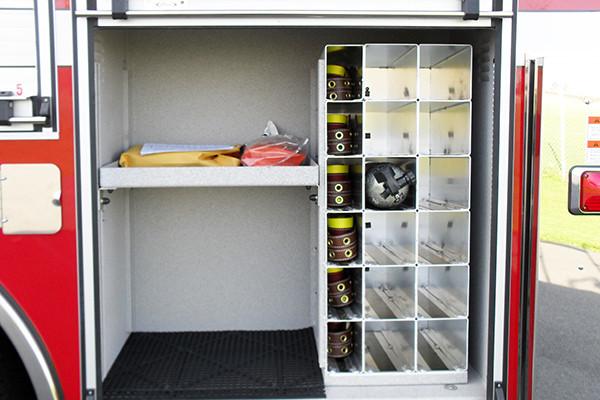 2009 Pierce Arrow XT - new aerial ladder truck - custom tool storage