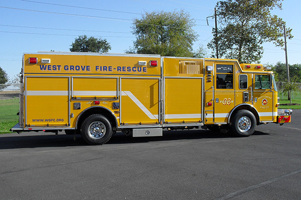 2009 Pierce Arrow XT heavy duty rescue pumper - new rescue fire engine - passenger side