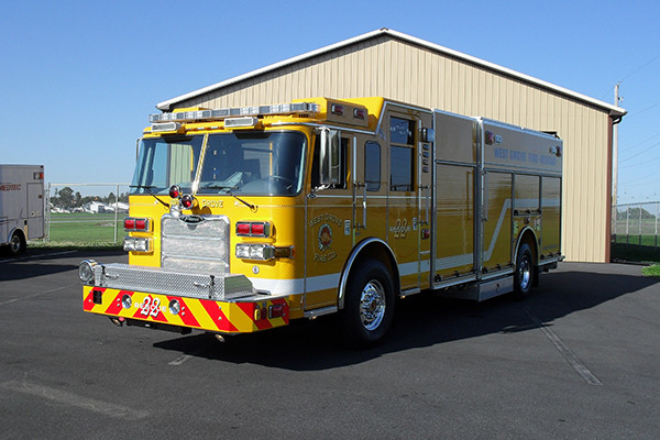 2009 Pierce Arrow XT heavy duty rescue pumper - new rescue fire engine - driver front