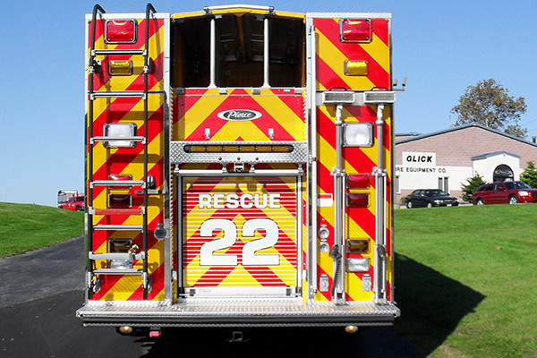 2009 Pierce Arrow XT heavy duty rescue pumper - new rescue fire engine - rear