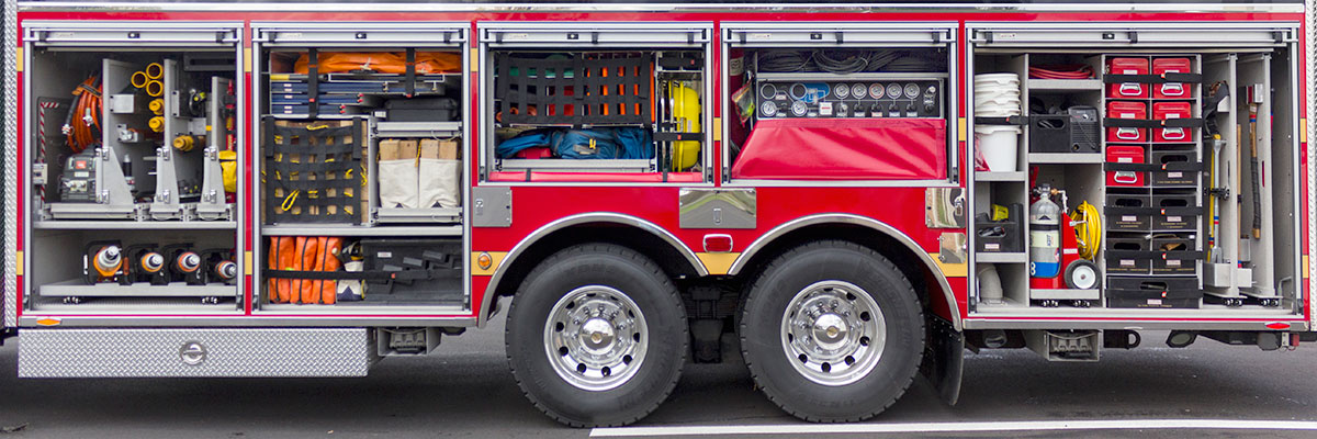 purchase stock fire apparatus - custom shelving and tool mounting