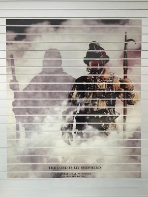 2016 Pierce Enforcer pumper - fire engine - rear roll-up door mural