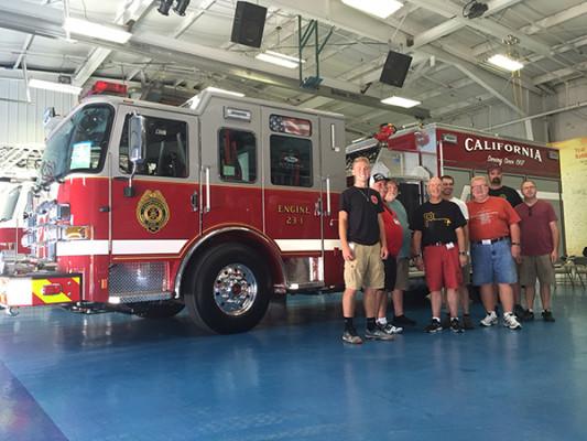 2016 Pierce Enforcer pumper - fire engine - members at Pierce for final inspection