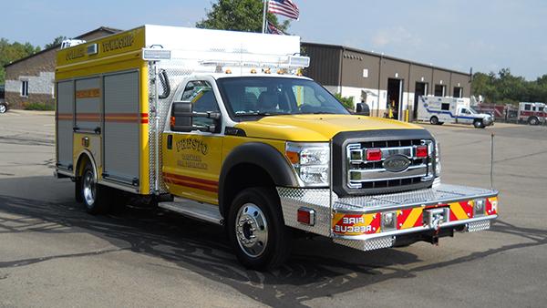 2016 Pierce non-walk-in rescue - mini rescue fire truck - passenger front
