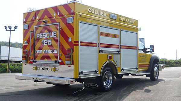 2016 Pierce non-walk-in rescue - mini rescue fire truck - passenger rear