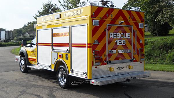 2016 Pierce non-walk-in rescue - mini rescue fire truck - driver rear