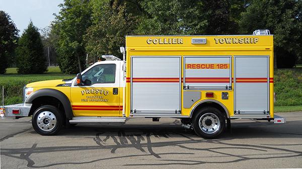 2016 Pierce non-walk-in rescue - mini rescue fire truck - driver side