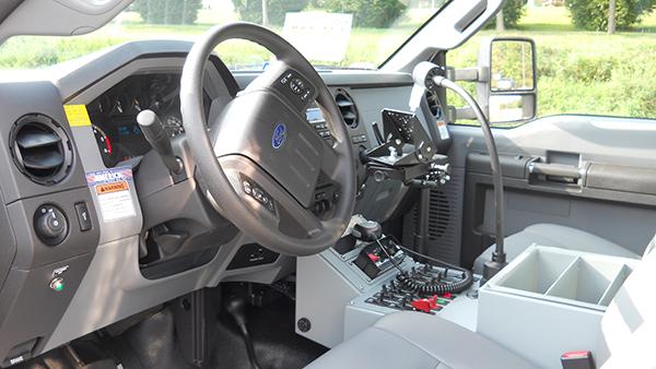 2016 Pierce non-walk-in rescue - mini rescue fire truck - cab interior