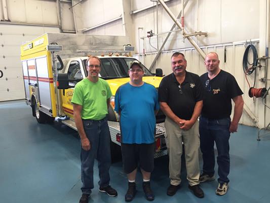 2016 Pierce non-walk-in rescue - mini rescue fire truck - members at Pierce for final inspection