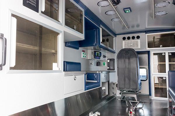 2016 Braun Chief XL - Type I ambulance - module interior driver side