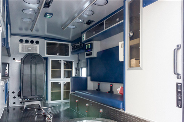 2016 Braun Chief XL - Type I ambulance - module interior passenger side