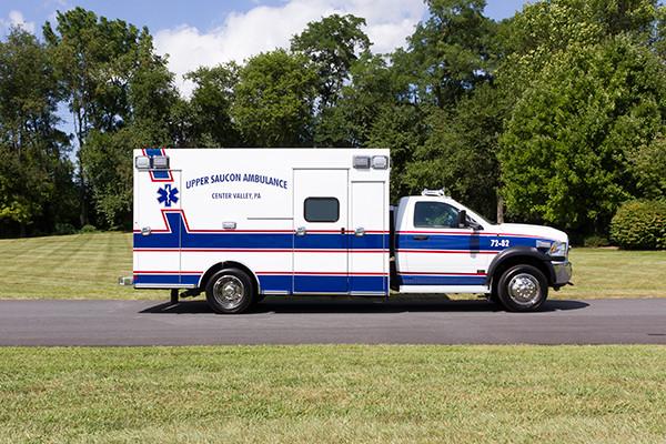 2016 Braun Chief XL - Type I ambulance - passenger side