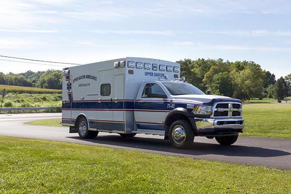 2016 Braun Chief XL - Type I ambulance - passenger front