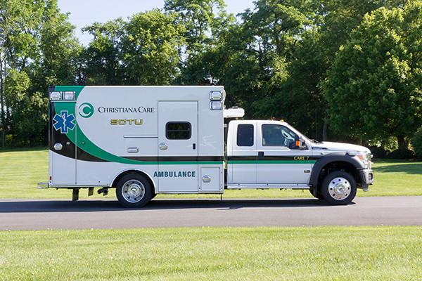 2016 Braun Liberty - custom Type I ambulance - passenger side