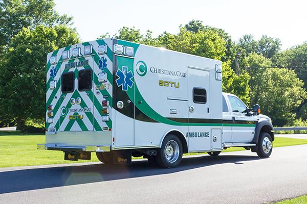 2016 Braun Liberty - custom Type I ambulance - passenger rear