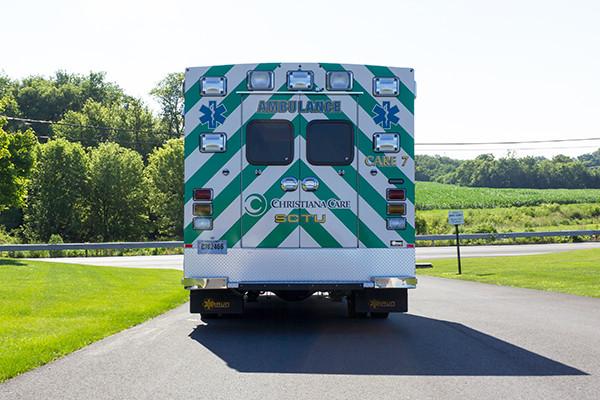 2016 Braun Liberty - custom Type I ambulance - rear
