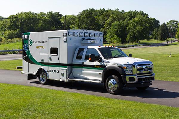 2016 Braun Liberty - custom Type I ambulance - passenger front