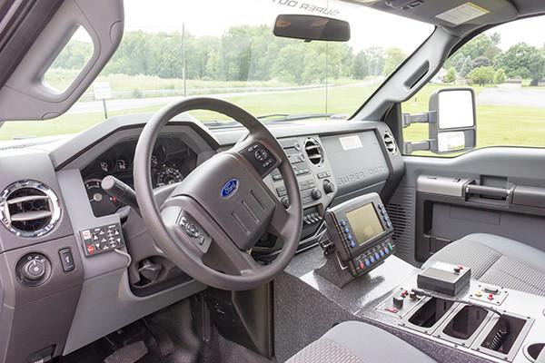 2016 Braun Liberty - custom Type I ambulance - cab interior